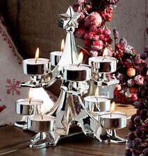 Edler Teelichthalter- Tannenbaum für 8 Teelichter 20 cm- versilbert- anlaufgesch