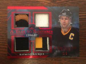 20-21 IN THE GAME USED HOCKEY YEAR TO REMEMBER PATCH BRUINS RAY BOURQUE 1/3