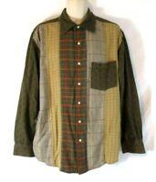 R&G Robert Graham Shirt Sz XL Multi-Color Geometric Long Sleeve Mens CB61W