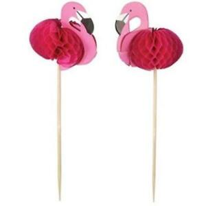 Flamingo Picks 24 Pack Luau Party Decorations and Supplies Pink Flamingo Decor