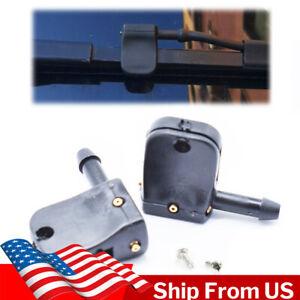 USA Universal Washer Nozzle Jet Spray Clip Under Wiper Arm For Heavy Truck 2X