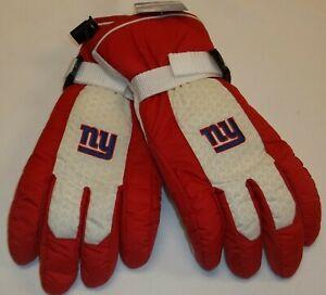 NFL New York Giants Men's Nylon Ski Gloves By Reebok - Large - NWT