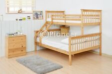 Bunk Bed Wooden Frame oak Triple Sleeper Children bunk bed single in pine 4ft6