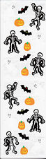 Mrs. Grossman's Stickers - Halloween Things - Bat, Ghost, Skeleton - 4 Strips