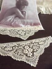More details for ~exquisite pr antique shiffli lace 'roses & bells' cuffs~