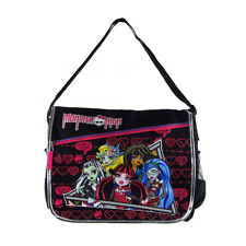 Brand New Monster High Black School Messenger Bag Backpack Back Pack