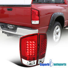For 2007-2008 2PC Dodge Ram 1500 2500 3500 LED Tail Lights Brake Lamps Red Pair