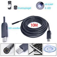10 M Endoskop Video Rohrkamera 6 LED USB Inspektionskamera Wasserdicht Kanal