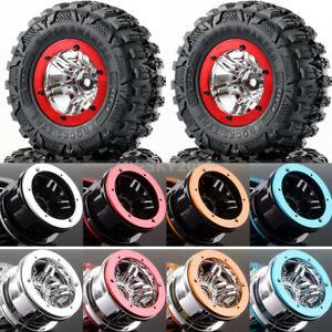 "4pcs 2.2"" Beadlock Wheel Rim Hub & 120mm Tires Tyre Fits RC 1/10th Rock Crawler"