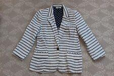 Anthropologie Isabella Sinclair Mori Nautical Striped 100% Cotton Blazer Jacket