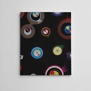 "16X20"" Gallery Art Canvas: Takashi Murakami Jellyfish Eyes Fantasy/ Fiction Art"