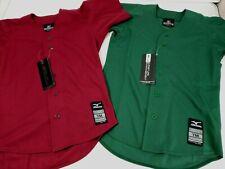 Youth Mizuno Game Softball Baseball Jersey Lot of 2 Medium Burgundy Green Button