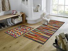 wash+dry Teppich waschbar Fußmatte Bodenmatte Läufer 60 x 180 cm Mikado Stripes