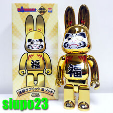Medicom 400% Bearbrick ~ Sky Tree Daruma R@bbrick Be@rbrick Gold Color