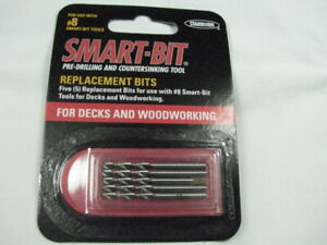 SMART BIT Tool Replacement Drill Bits 8g x 30mm (5) Decking Woodworking