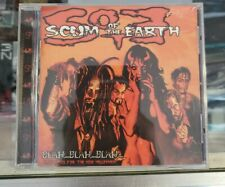 SCUM OF THE EARTH 'BLAH…BLAH…BLAH CD… Near Mint Zombie/Riggs Fast Shipping