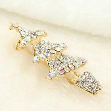 Diamante Christmas Tree Clear Crystal Ab Rhinestone Alloy Brooch Pins Women Gift