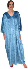 "Ladies Turquoise Long Kaftan. Plus-size. Length 53"".  Made by Kaftan Krazy UK."