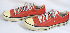 Nice Usa Made Chuck Taylor Converse All Star Low Top Shoes, Red, Size 5 1/2