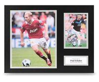 Paul Scholes Signed 16x12 Photo Display Man Utd Autograph Memorabilia + COA