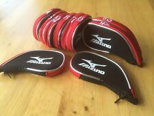 10 Mizuno black red trim superior golf club iron head covers HEADCOVERS