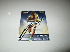 WEST COAST EAGLES - NIC NAITANUI HAND SIGNED AFL 2012 SELECT CHAMPIONS CARD