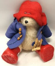 Vintage Sitting PADDIGNTON BEAR Toy with Red Wellies, Hat & Jacket  - S40