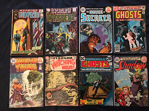 DC HORROR lot of 8 comics: House of Mystery, House of Secrets, Witching Hour VG-