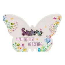 Sister Gift - Floral Butterfly Colourful plaque with sentiment 66254