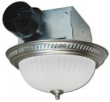 Exhaust Bathroom Fan with Light Decorative 70 CFM Ceiling Round Stylish Nickel