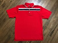 FootJoy FJ Mens Short Sleeve Polo Golf Shirt Size Large