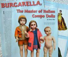 15p History Article + Pics - Rare Antique Burgarella Italian Compostion Dolls