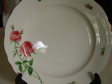 "CHRISTINEHOLM Porcelain Dinner Plate  ROSE Pattern, 10 3/8""  Mint CONDITION"