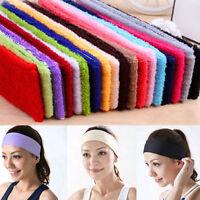 Women Men Cotton Sweat Sweatband Headband Yoga Gym Stretch HeadBand For Sport