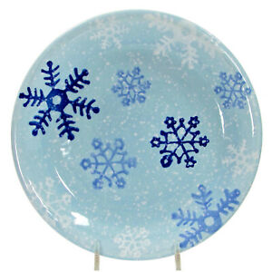 """Target Home WINTER FROST - SNOWFLAKES 8.25"""" Salad Dessert Plate Blue Christmas"""