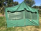 "Vtg Hettrick Mfg 1960's Heavy Canvas Cabin Wall Tent Homestead 9'4""x13'2""x80"""