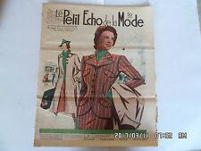 LE PETIT ECHO DE LA MODE N°25 19/06/1938 LE DEPART EN VOYAGE CAMPAGNE PLAGE  K39