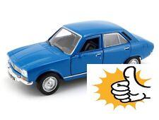 Blue Peugeot 504 1975 France bleu blau modellauto model car Welly diecast 1:36