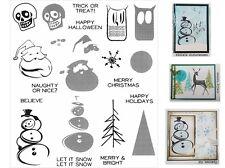 Tim Holtz Rubber Stamps - Santa, Christmas Tree, Halloween, Skulls, Snowman
