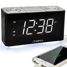 Radio Alarm Clock FM Digital Radio Clock Bedside Dual Alarm Clock w/Night Light