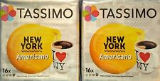 2 Packs Tassimo New York Americano T Discs Pods - 32 T Discs 32 XL Drinks