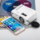 Mini LED Projector Digital Video Multimedia Player HDMI VGA USB AV White CA
