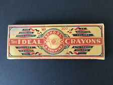 IDEAL BOX OF CRAYONS, OVER 100 YEARS OLD, COMPLETE WITH CARDBOARD HOLDER, GOOD