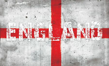 COOL ENGLAND FLAG / ST GEORGE'S CROSS GRUNGE - vinyl wall,car,van decal sticker