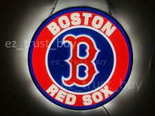 """New Boston Red Sox Led 3D Neon Sign 17"""" Bar Lamp Decor Poster"""