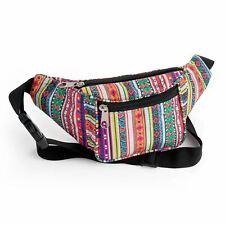 Glitter Multi colour tribal bum bag Festival Money Holiday Shopping Travel Belt