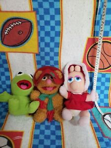1987 McDonalds Lot Of 3 Jim Henson Muppet Babies: Fozzie Kermit Piggy