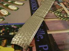 18mm XLNT WOOD GRAIN NOS KREISLER SS 50s BAND STRETCH SCISSOR 3/4 WATCH BRACELET