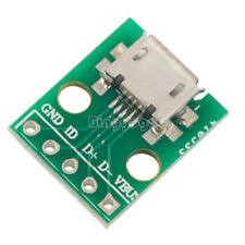 5 PCS Female MICRO USB to DIP 5-Pin 2.54mm Pinboard NEU