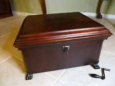 Lyon & Healy (Mira) Antique Single Comb 12 Inch Disc Mahogany Music Box